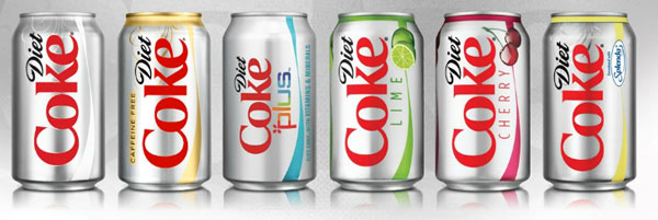 Difference between Coke and Diet Coke