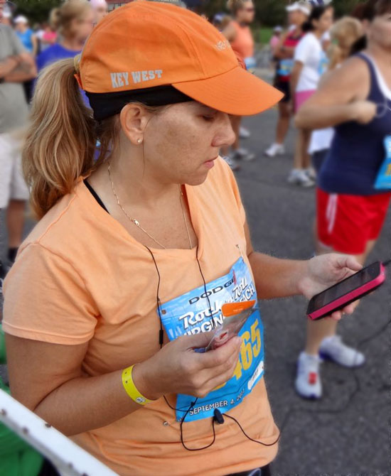running first half marathon getting songs ready on iPhone