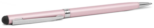 pink 2-in-1 stylus and pen from nuscribe