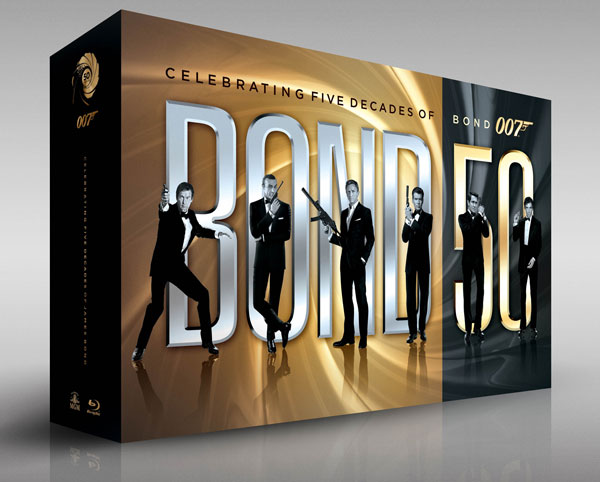 James Bond 50 anniversary blu ray boxed set panasonic