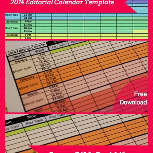 2014 editorial calendar template free download scraps of my geek life. Black Bedroom Furniture Sets. Home Design Ideas
