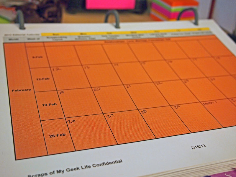 editorial calendare month view