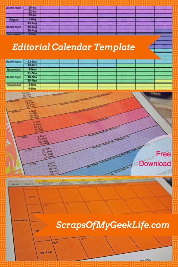 free editorial calendar template download for your blog  2014 updated