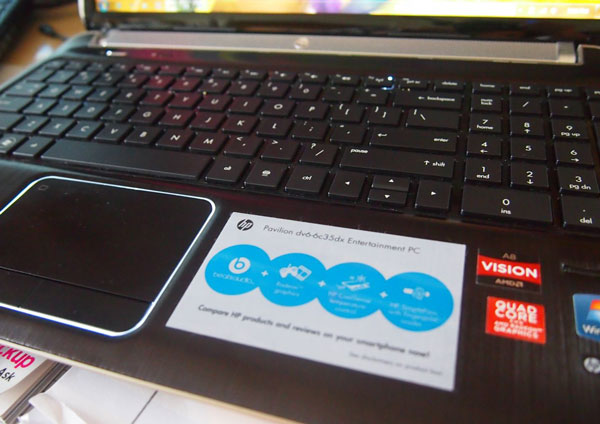 hp dv6 keyboard and touchpad