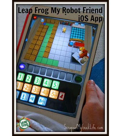 Leap Frog's My Robot Friend iOS App; Creative Learning Game #CleverRobotFriend