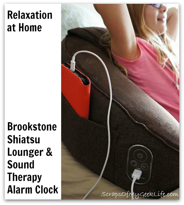 Tranquil Sleep Sounds and Massage Bed Lounger from Brookstone