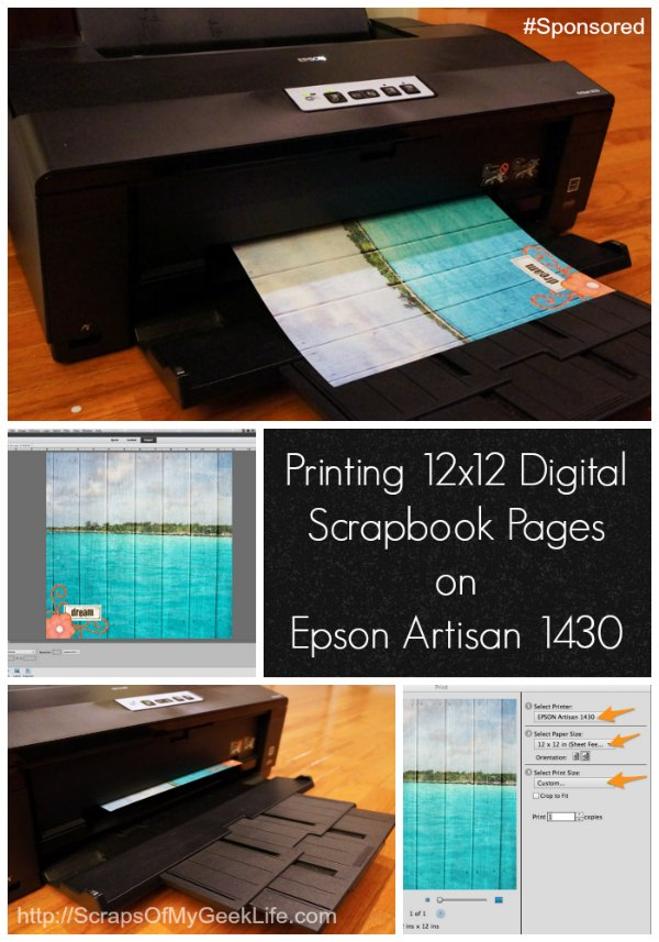 printing digital scrapbook pages