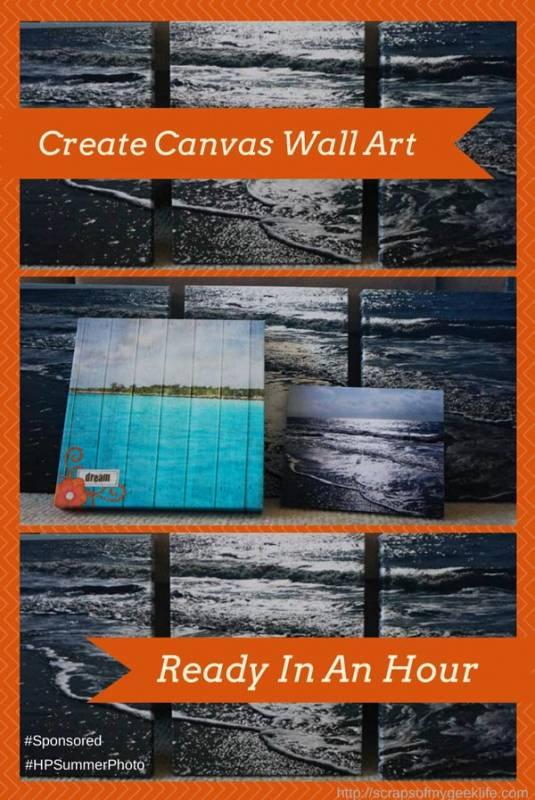 Creating HP Photo Canvas Wall Art #HPSummerPhoto #Sponsored