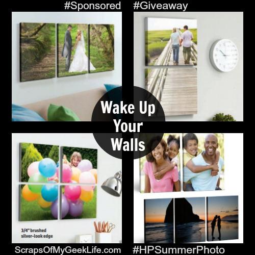 Wake Up Your Walls With Photos $50 Walmart Gift Card #HPSummerPhotoFun