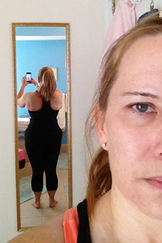 michele back before photo just dance just sweat dream team