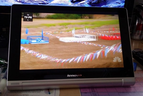 Catching up on TV on Lenovo Yoga Tablet