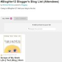 The #BlogHer12 Blogger's Blog List; Attending? Add Your Blog