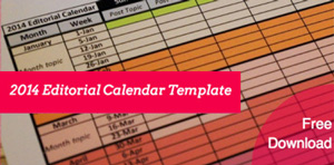 2014 free editorial calendar template