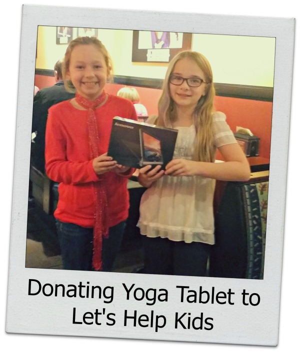 Donating Lenovo Yoga Tablet to Let's Help Kids Organization