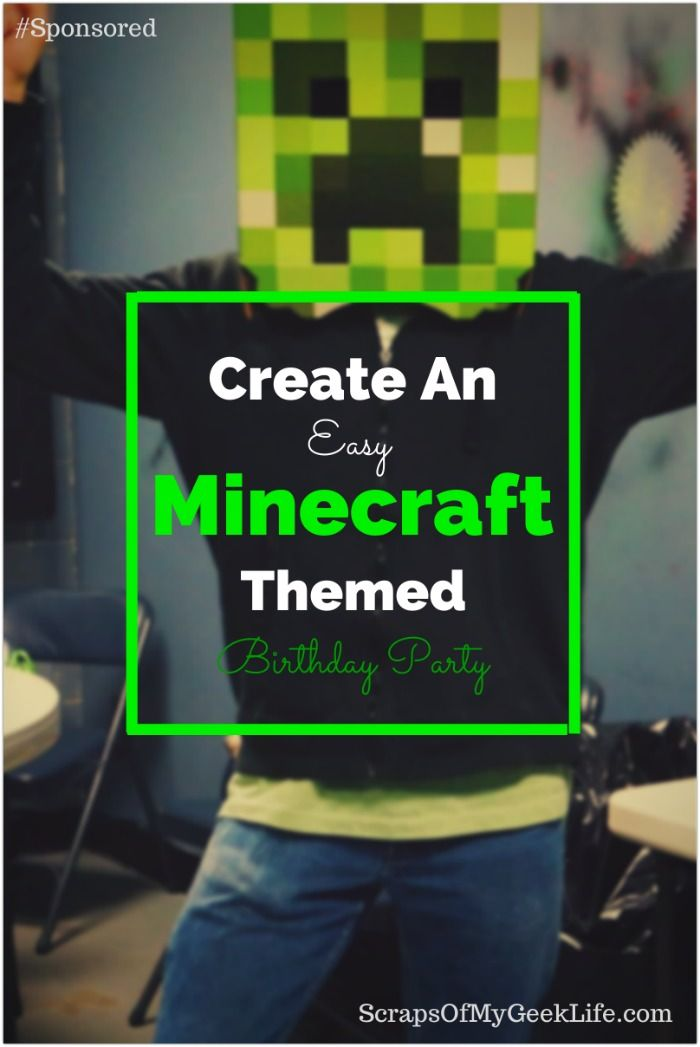 Create an easy Minecraft themed birthday party