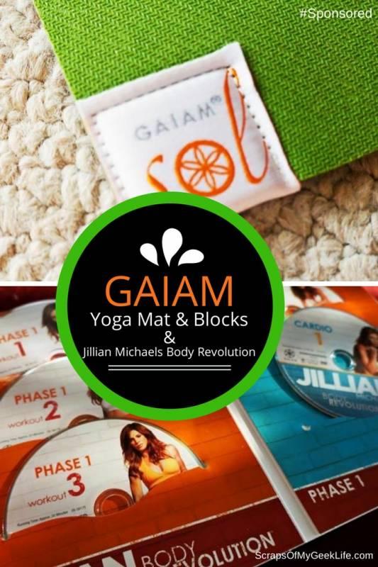 Gaiam Yoga Mat, Blocks and Jillian Michaels Body Revolution 15 DVD Workout #Spon