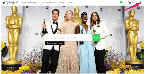register for a getty images account