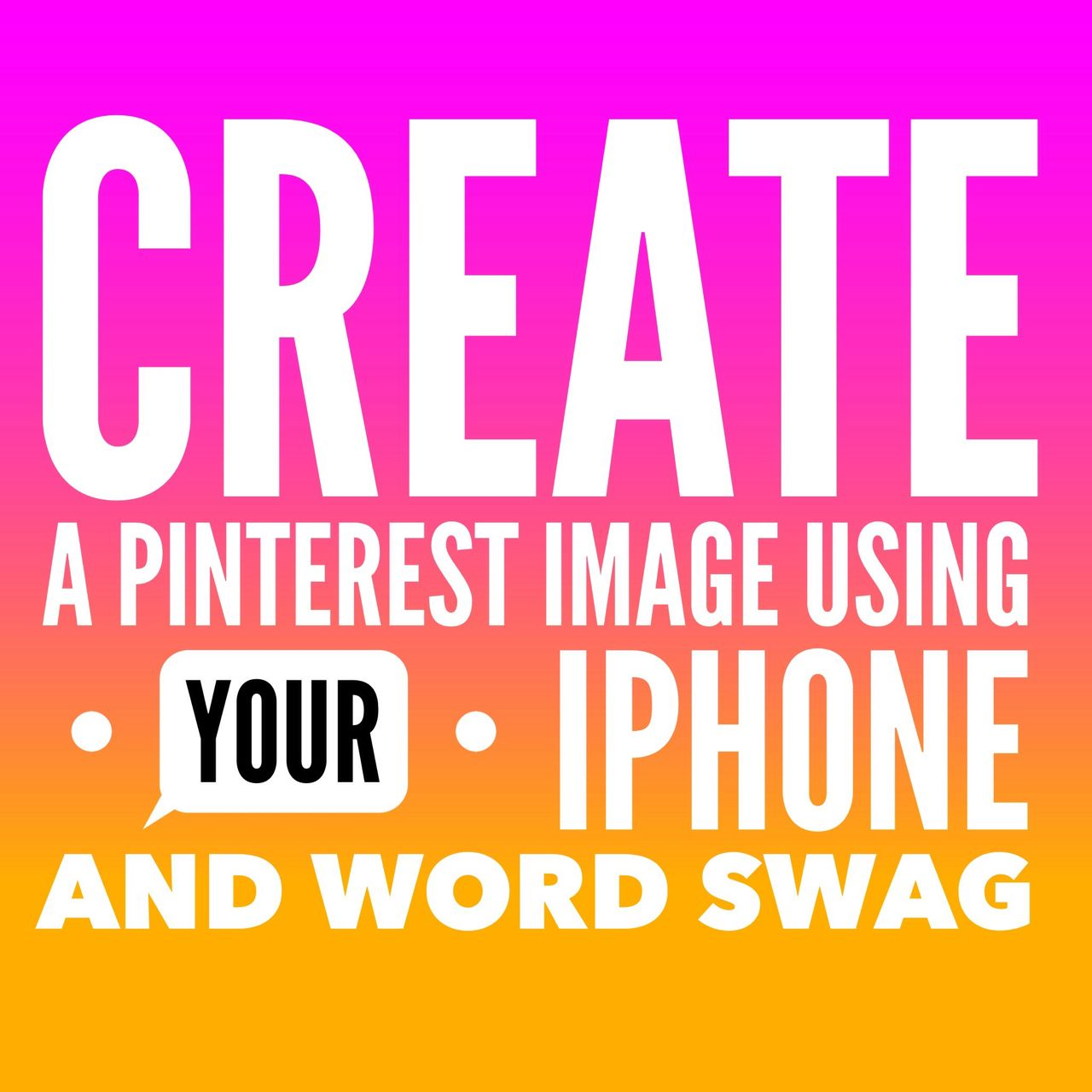 create a pinterest image