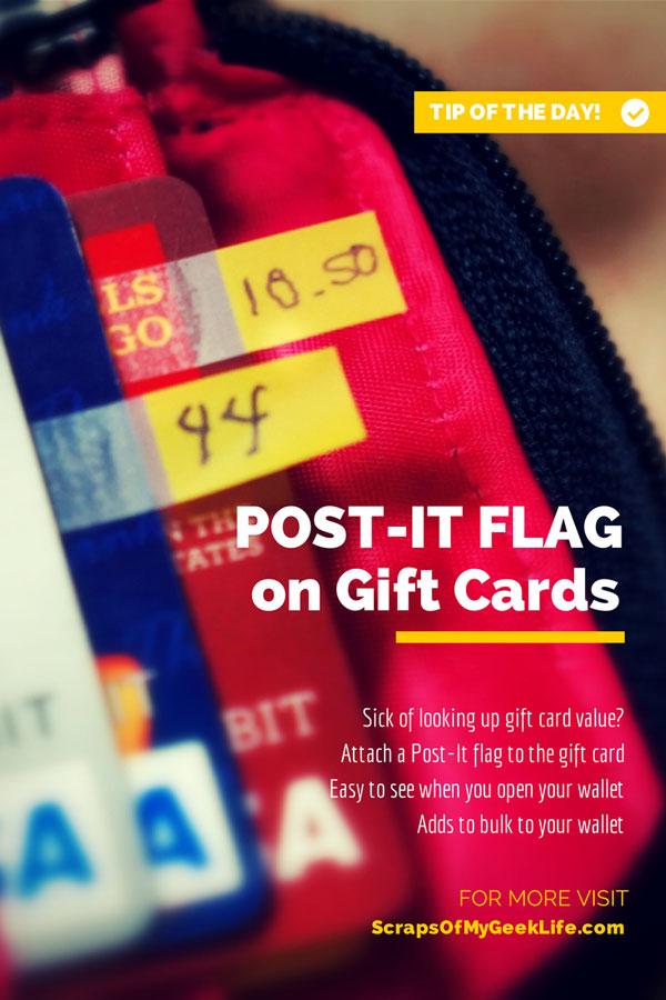 Keep track of gift card balance