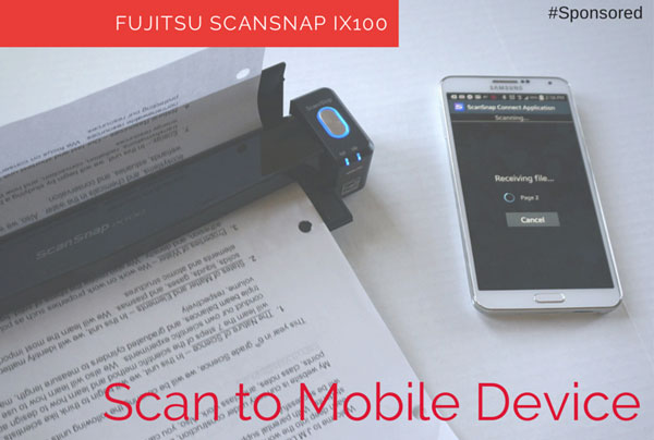 Scan Straight to your Mobile Device with ScanSnap iX100