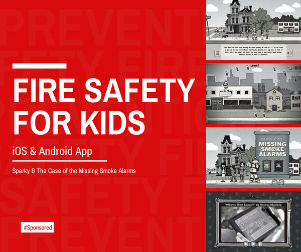 Sparky App Helps Kids Learn Fire Safety #Spon