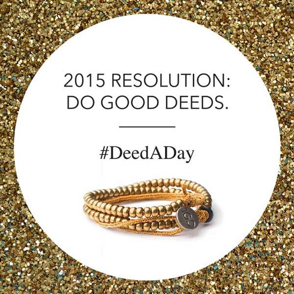 100 Good Deeds Bracelet for #DeedADay in 2015 #1GD #Spon