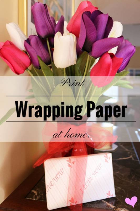 DIY: Print Wrapping Paper At Home For Valentine's Day