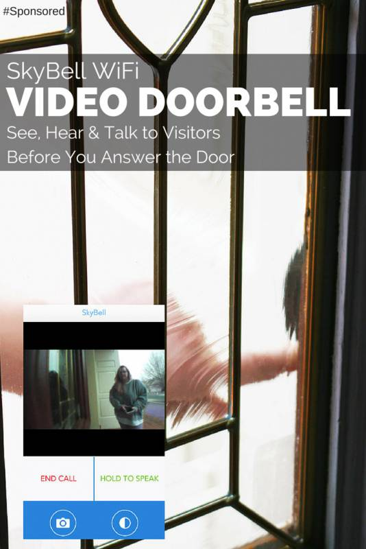 Use SkyBell WiFi Video Doorbell to Safely See Visitors #SkyBell #Giveaway