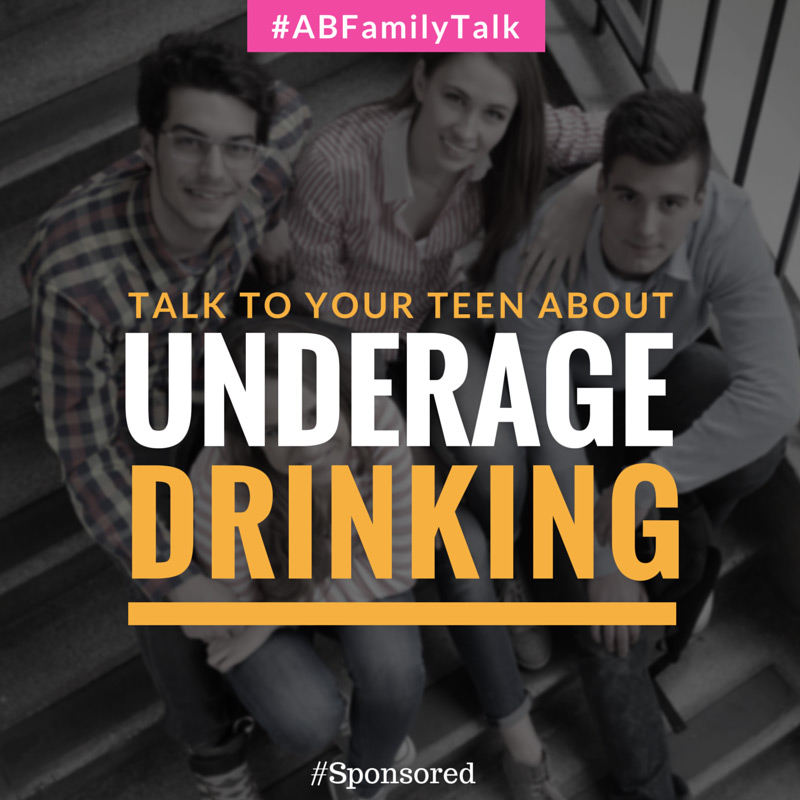 Talk To Your Teen About Underage Drinking ($25 GC #Giveaway) #ABFamilyTalk, #IC #Spon