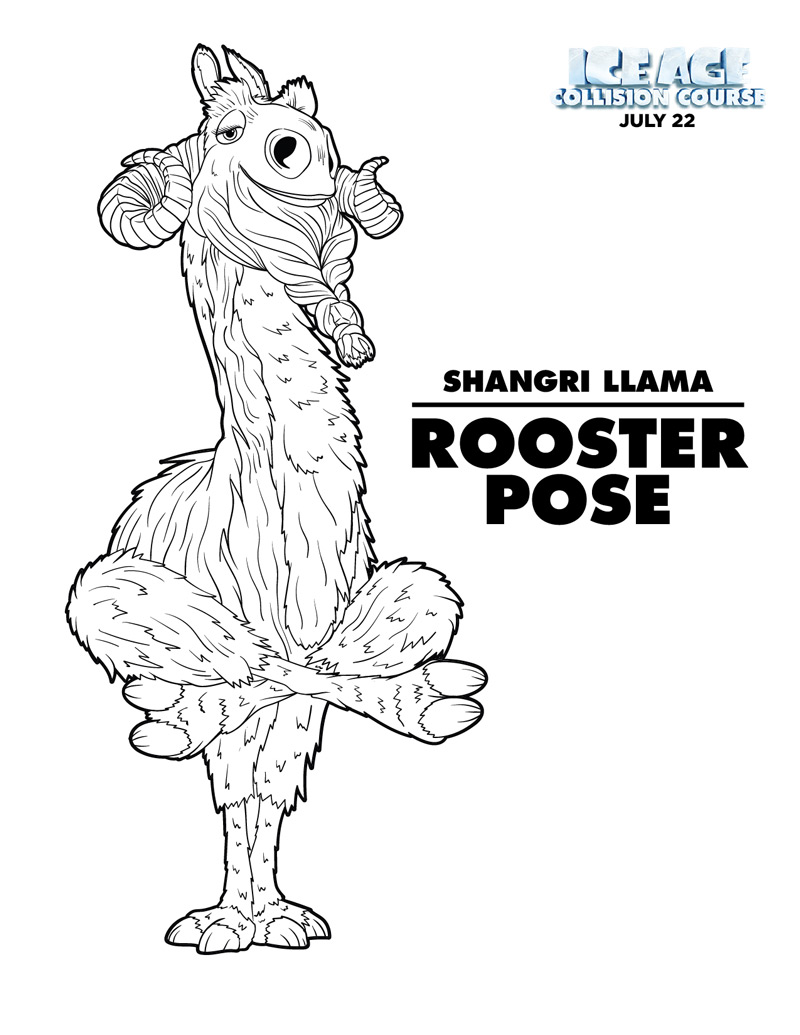 Ice Age Coloring Pages Pdf : Celebrate international yoga day with shangri llama from