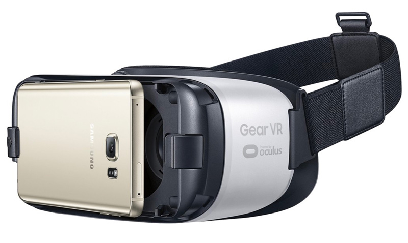 Samsung Mobile Gear VR for certain Samsung phones. Available at Best Buy. It is mobile virtual reality