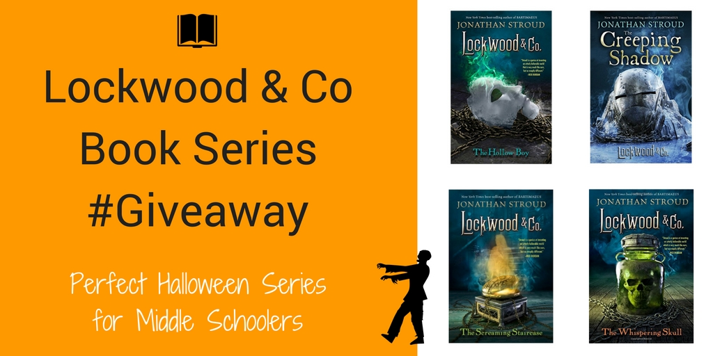 Lockwood & Co four book series for middle schoolers. Written by Jonathan Stroud. The setting is London and the supernaturals are out and about and not very friendly. The young psychic people have opened detective agencies to find these supernaturals. This is a perfect series to read for the Halloween season. #LockwoodandCo