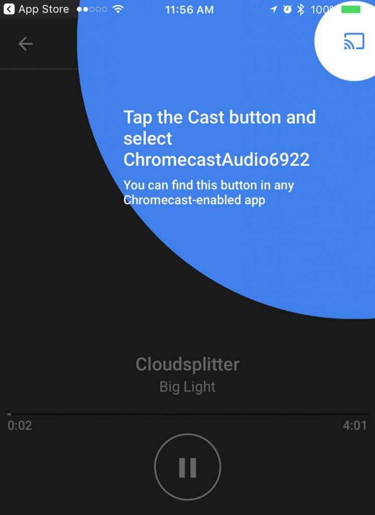 Click the cast button