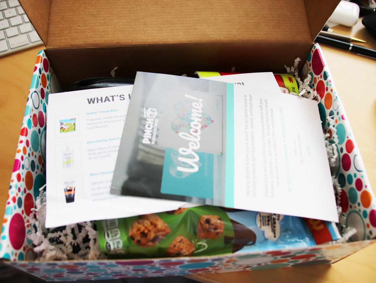 Inside of the PINCHme sample box (free samples)